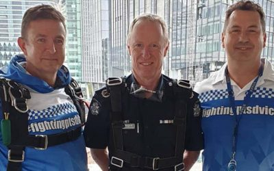 'Drop a Cop' take a LEAP for mental health Skydive event