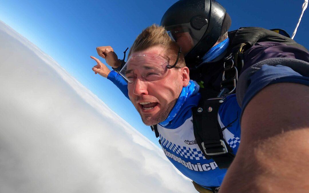 Drop a Cop skydive event 2021
